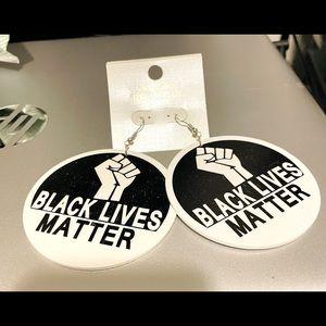 Black Lives Matter wooden earrings